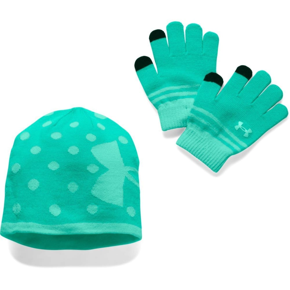 UNDER ARMOUR Girls' Hat & Glove Set - REFLECTION CRYSTAL 3