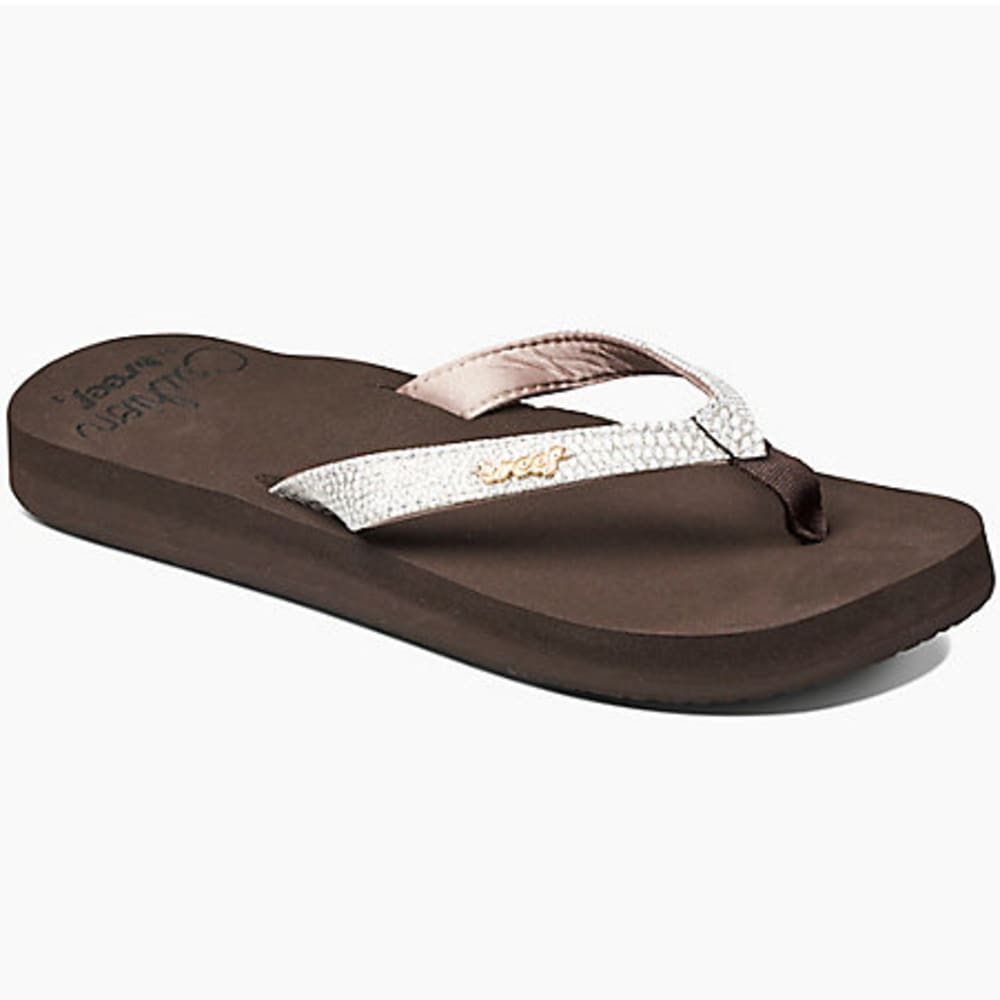 REEF Women's Star Sassy Cushioned Flip Flops, Brown/White - BROWN