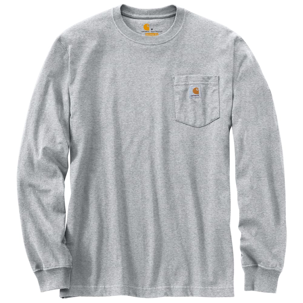 CARHARTT Men's Workwear Pocket Long-Sleeve Tee - HEATHER GRAY