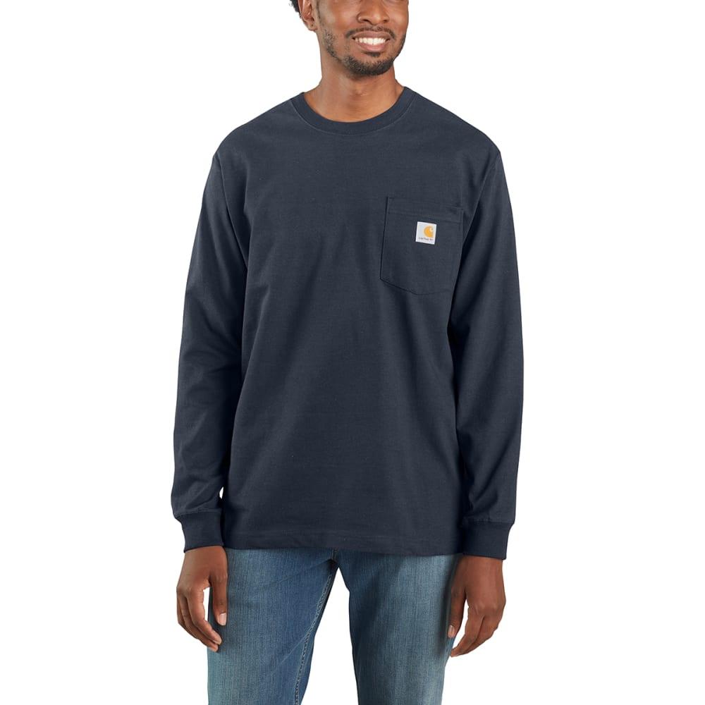CARHARTT Men's Workwear Pocket Long-Sleeve Tee - NAVY NVY