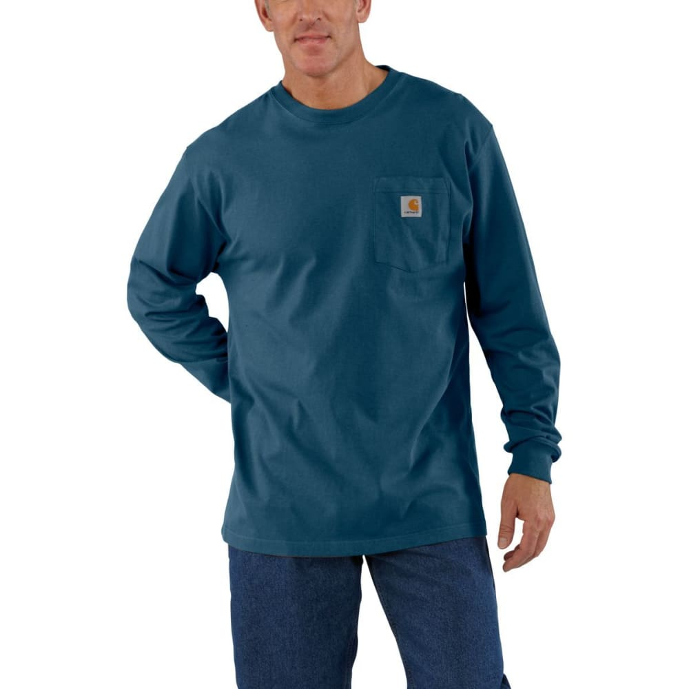 Carhartt Men's Workwear Pocket Long-Sleeve Tee - Blue, M