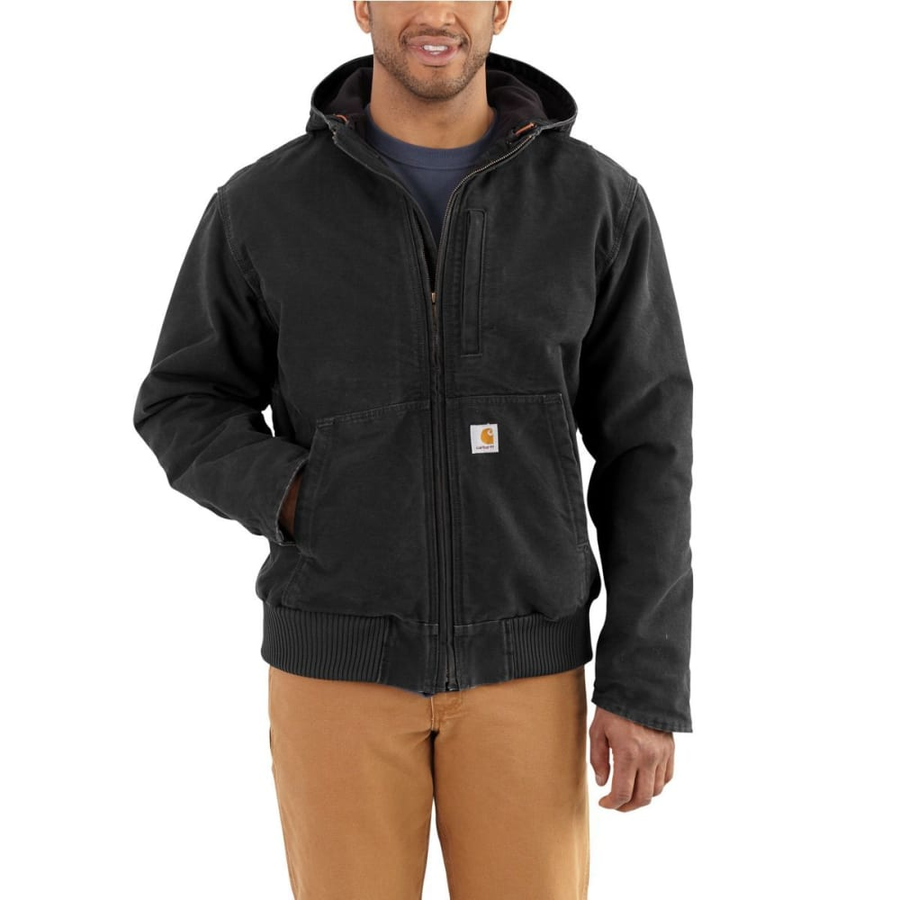 Carhartt Men's Full-Swing Armstrong Active Hooded Jacket - Black, XXL