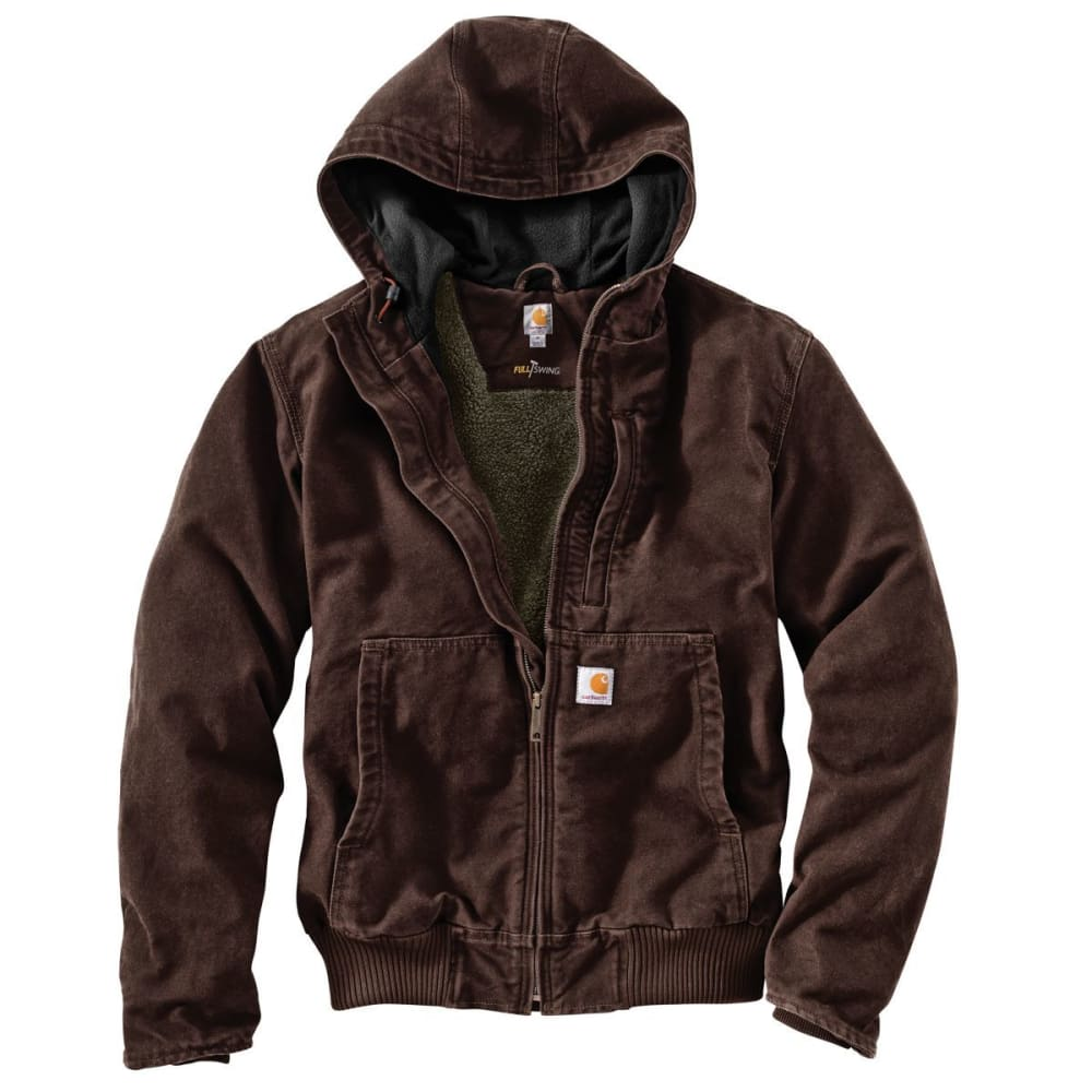CARHARTT Men's Full-Swing Armstrong Active Hooded Jacket - 201 DARK BROWN