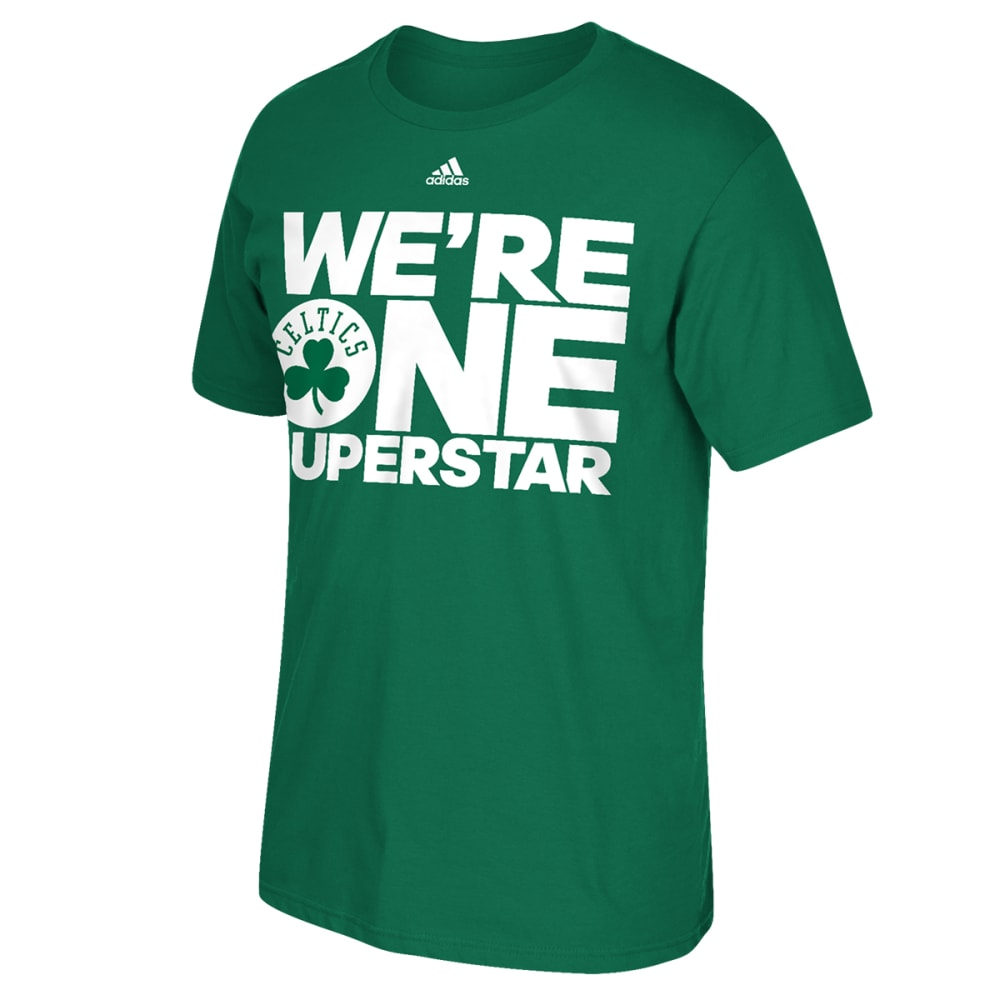 BOSTON CELTICS Men's One Superstar Tee - GREEN