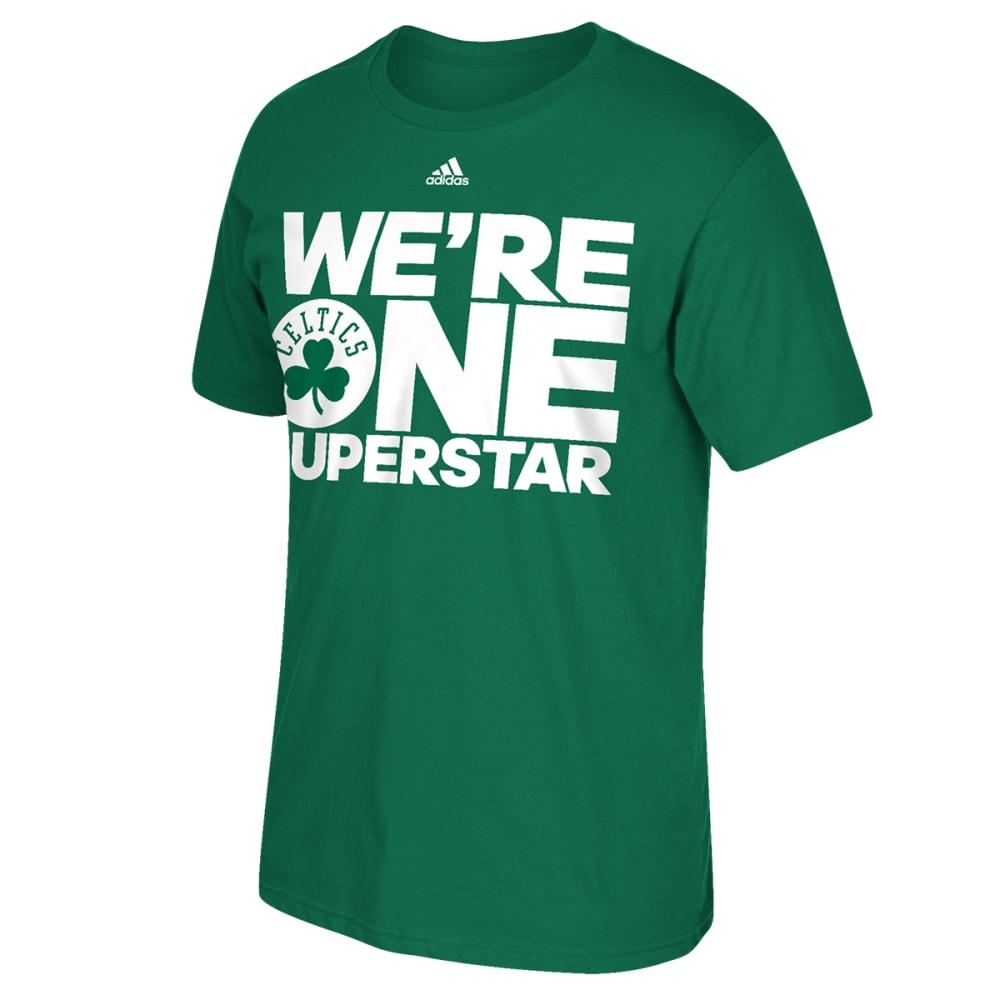 BOSTON CELTICS Men's One Superstar Tee - GREEN