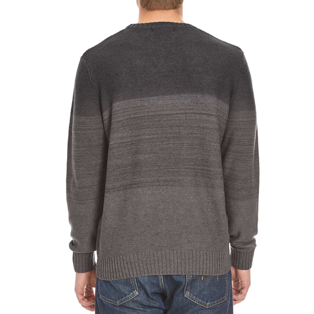 TRICOT ST. RAPHAEL Men's Color-Blocked Striped Crew Sweater - CHARCOAL HTR