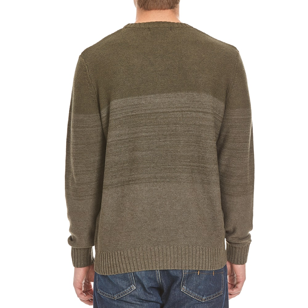 TRICOT ST. RAPHAEL Men's Color-Blocked Striped Crew Sweater - PARSLEY