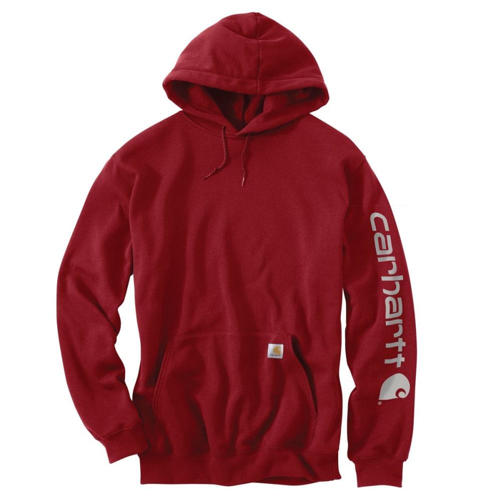 CARHARTT Men's Midweight Hooded Logo Sweatshirt - DROP DK CRIM 608