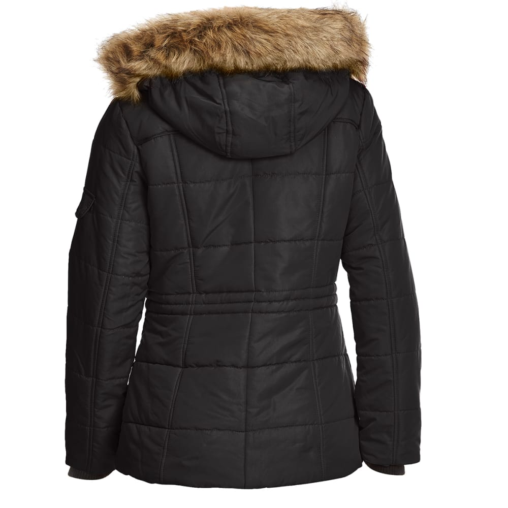 DETAILS Women's 28 in. Puffer Jacket - BLACK