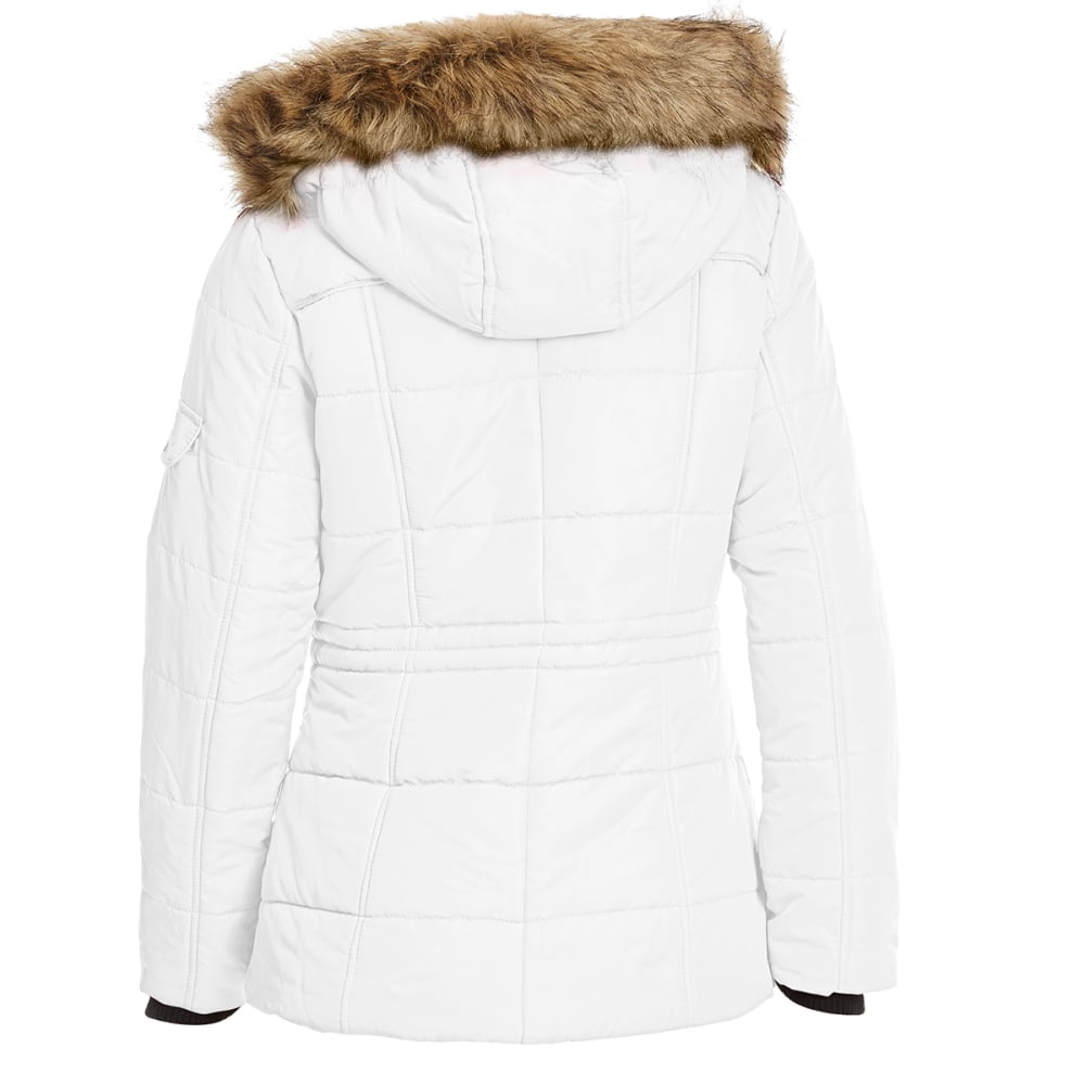 DETAILS Women's 28 in. Puffer Jacket - WINTER WHITE