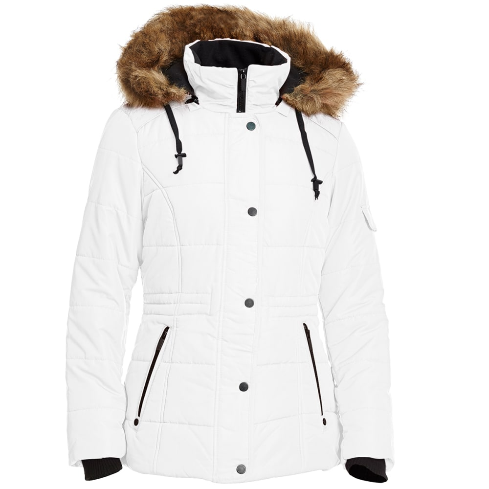 DETAILS Women's 28 in. Puffer Jacket - WINTER WHITE