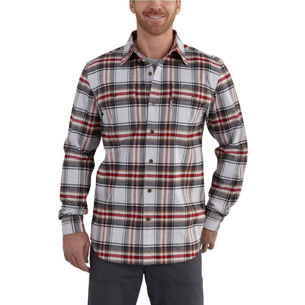 CARHARTT Men's Hubbard Plaid Long-Sleeve Shirt - 029 SHADOW