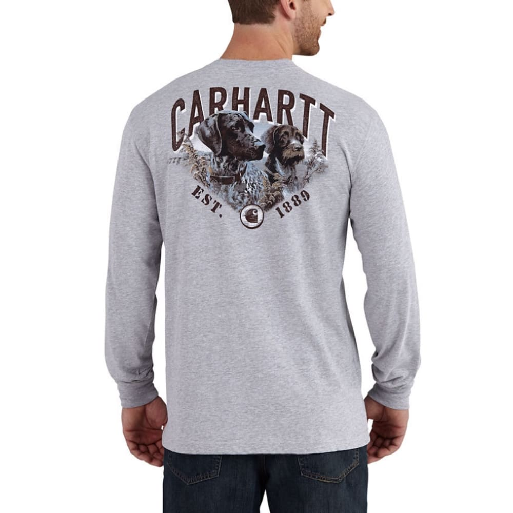 CARHARTT Men's Maddock Carhartt's Best Friend Long-Sleeve Pocket Tee - 034 HEATHER GRAY