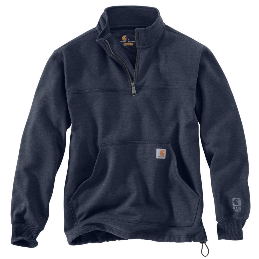 CARHARTT Men's Rain Defender Paxton Heavyweight Quarter-Zip Sweatshirt - 412 NAVY