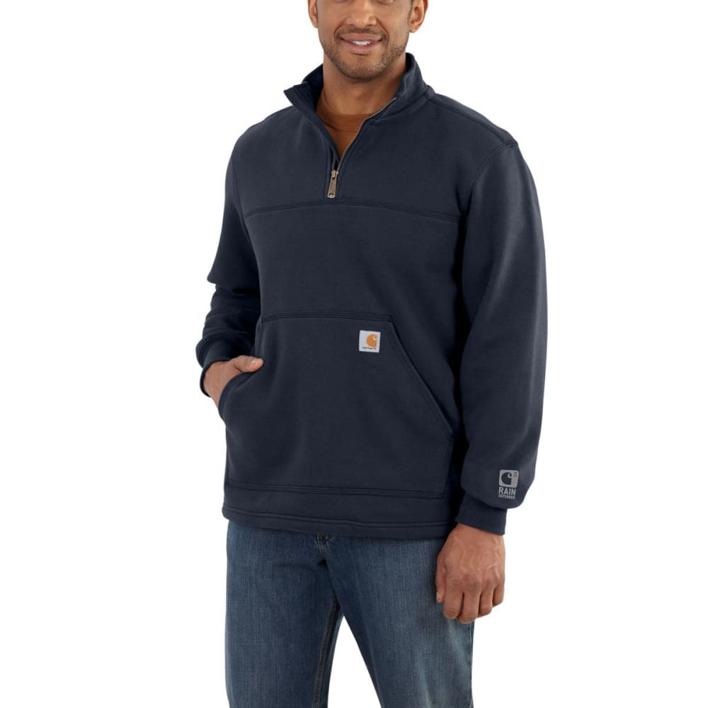 Carhartt Men's Rain Defender Paxton Heavyweight Quarter-Zip Sweatshirt - Blue, L
