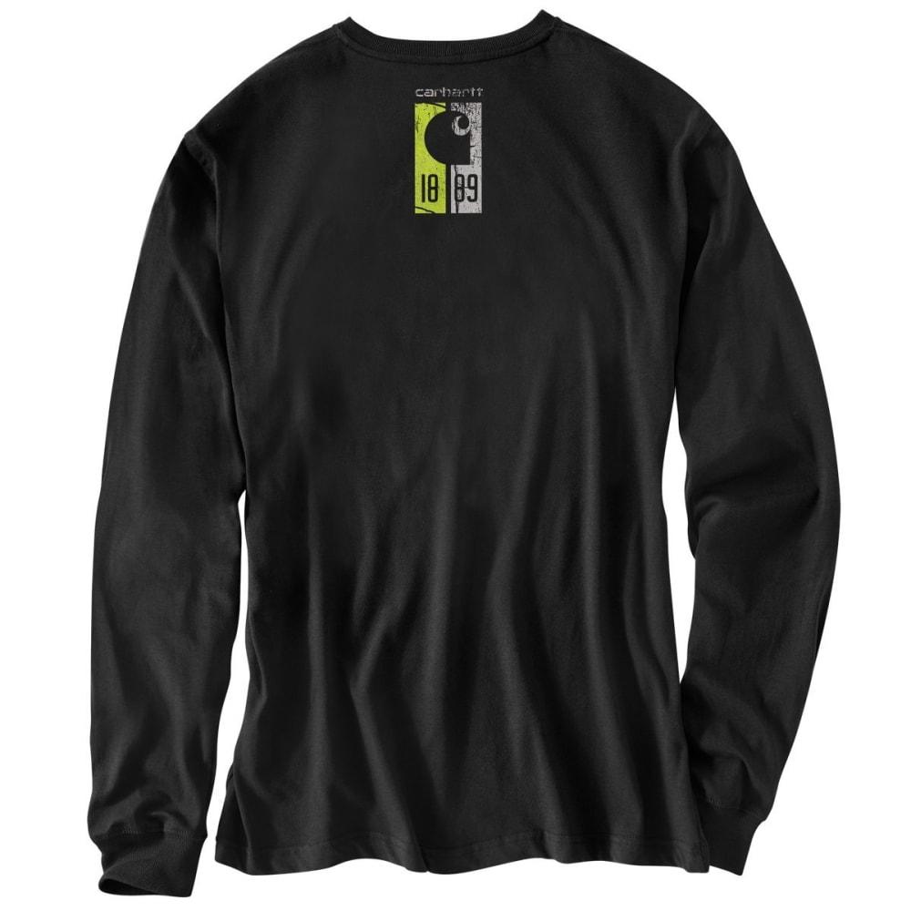 CARHARTT Men's Workwear Graphic 1889 Accent Long-Sleeve Tee - 001 BLACK