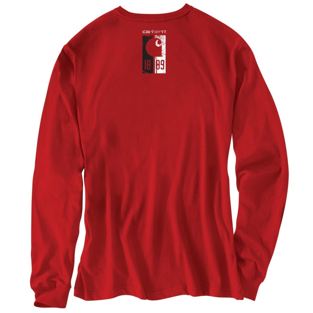 CARHARTT Men's Workwear Graphic 1889 Accent Long-Sleeve Tee - 600 RED