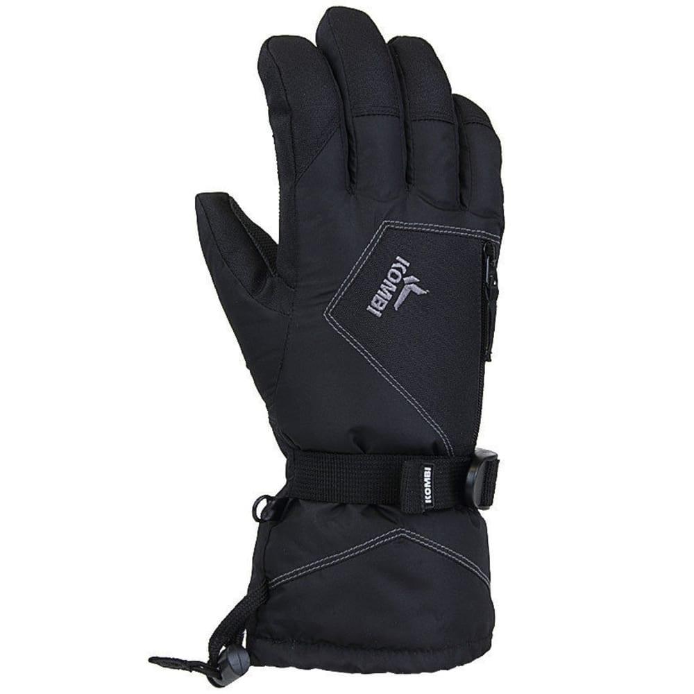 KOMBI Men's Roamer II Gauntlet Cuff Ski Gloves - BLACK