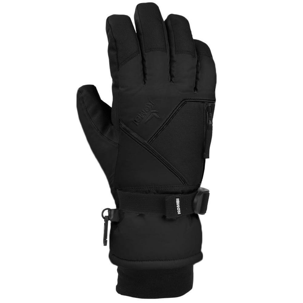 KOMBI Men's Pursuit II Knit Cuff Ski Gloves - BLACK
