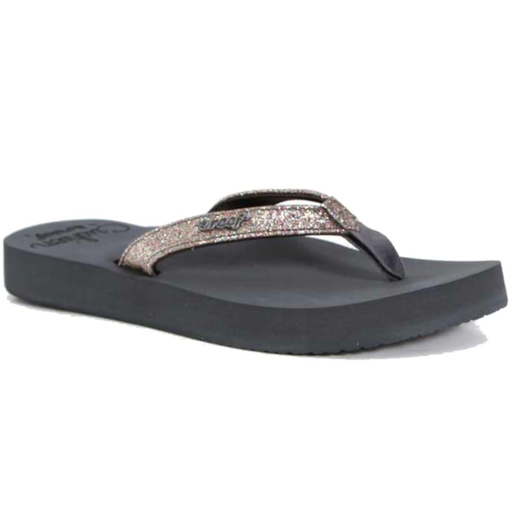 REEF Women's Star Cushioned Sandals, Grey/Multi - GREY