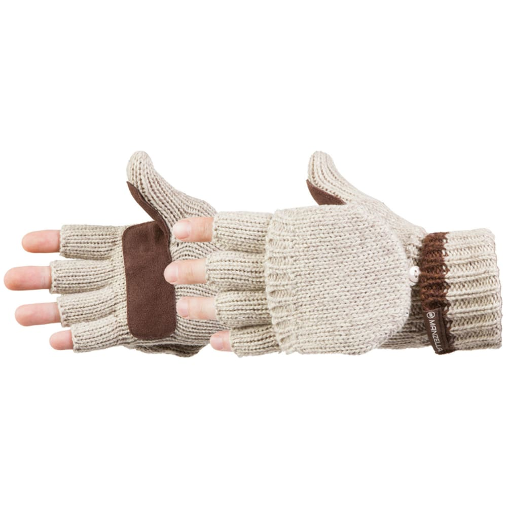 MANZELLA Men's Ragwool Convertible Gloves - NATURAL