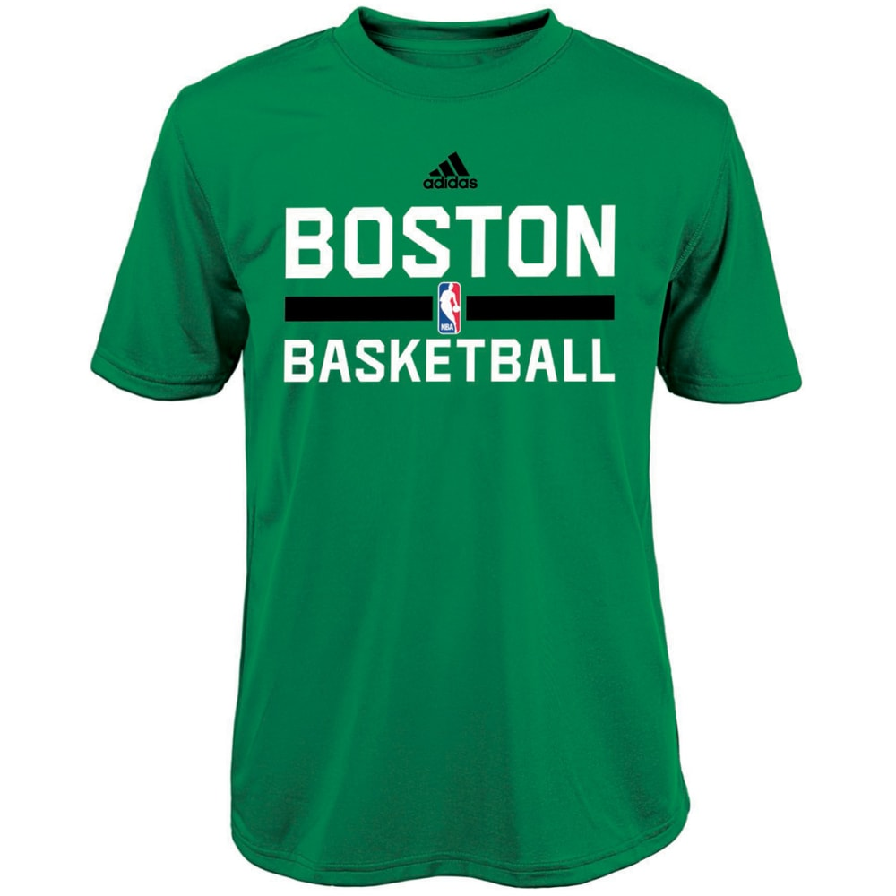 BOSTON CELTICS Boys' Practice Wear Short Sleeve Tee - GREEN