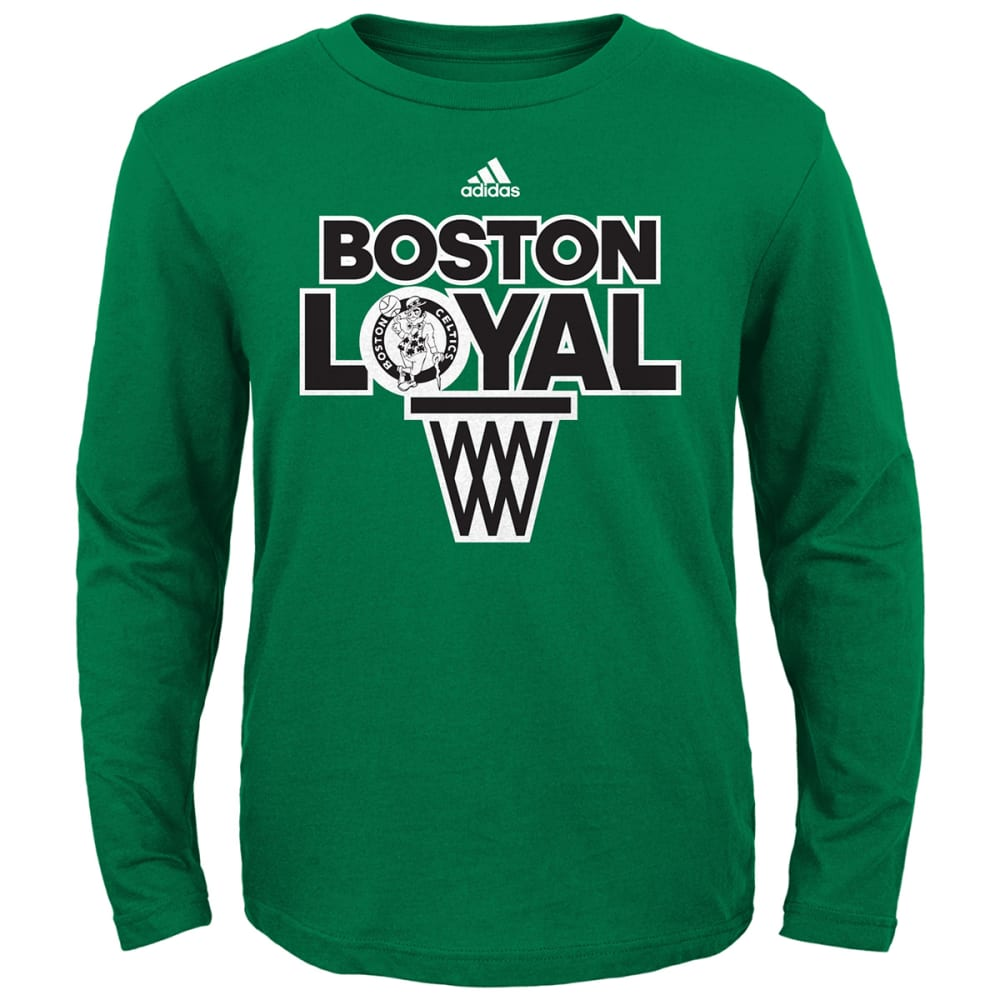 BOSTON CELTICS Boys' Team Loyal Long Sleeve Tee - GREEN