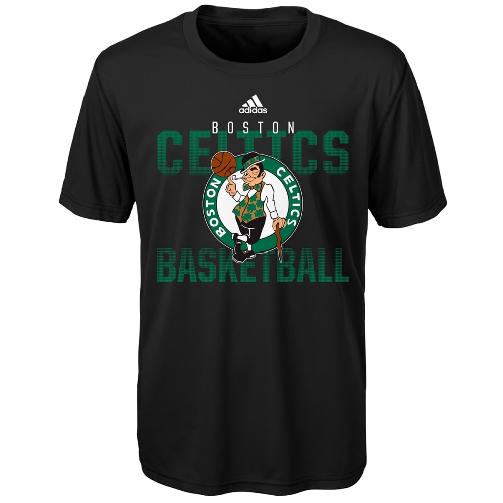 BOSTON CELTICS Boys' Fade Away Short-Sleeve Tee - BLACK