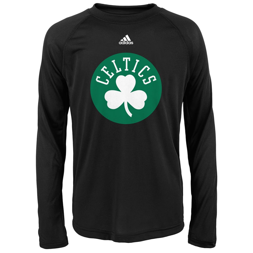 BOSTON CELTICS Boys' Primary Tech Long-Sleeve Tee - BLACK