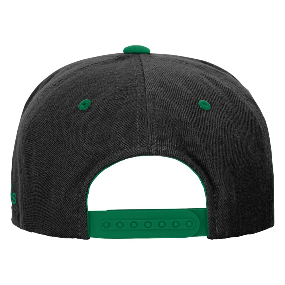 BOSTON CELTICS Boys' Flat Visor Snapback - GREEN