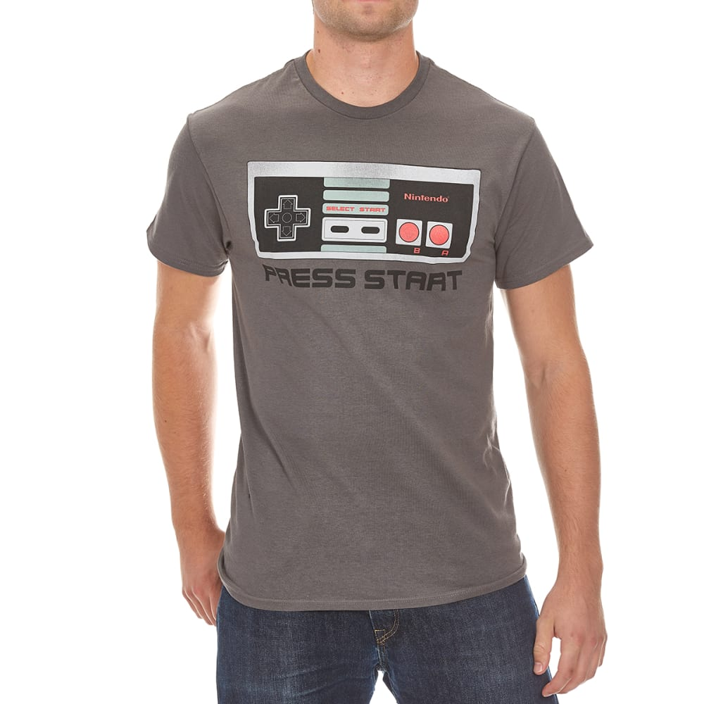 HYBRID Guys' Nintendo Vintage Controller Tee - CHARCOAL