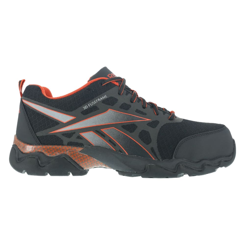 REEBOK WORK Men's Beamer Shoes, Wide - BLACK/RED