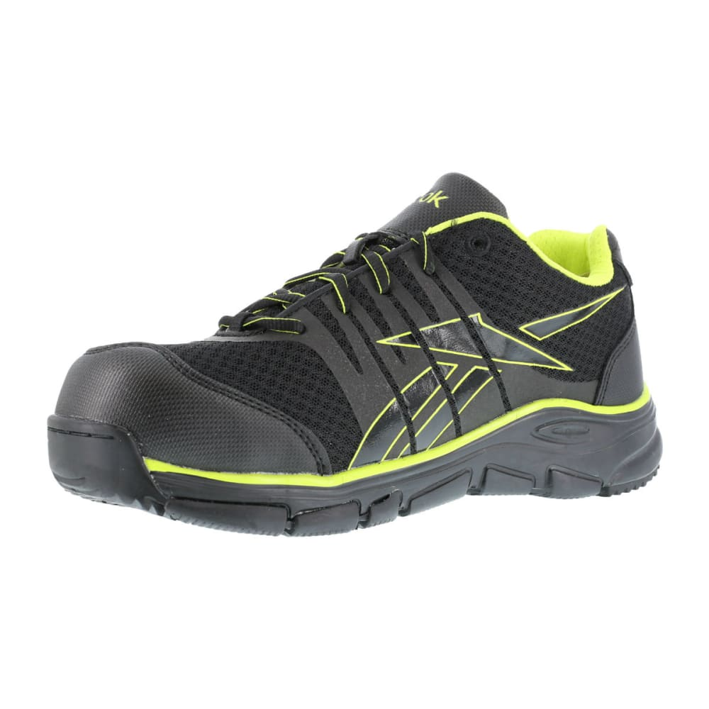 REEBOK WORK Men's Arion Shoes - BLACK/GREEN TRIM