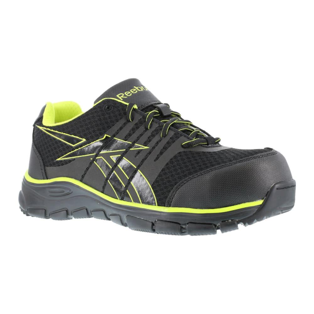 REEBOK WORK Men's Arion Shoes, Wide - BLACK/GREEN TRIM