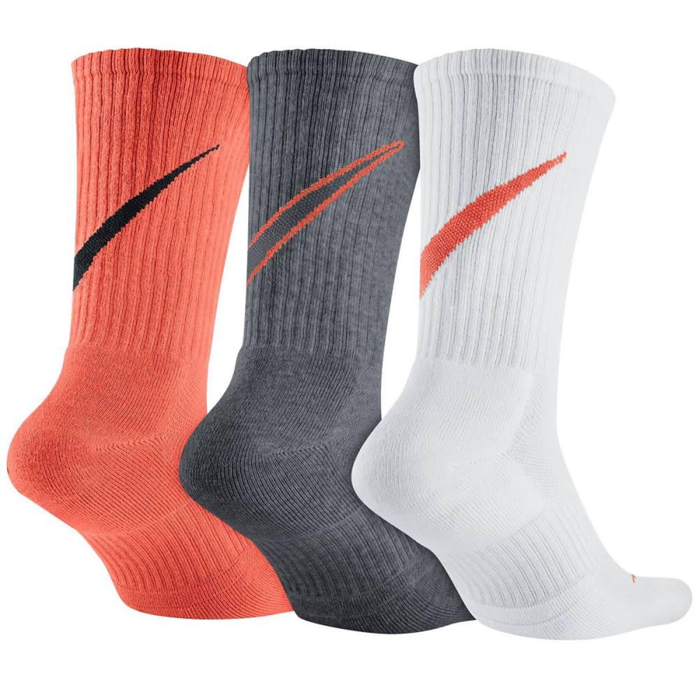 NIKE Men's Swoosh HBR Crew Socks, 3 Pairs - ASSORTED 902