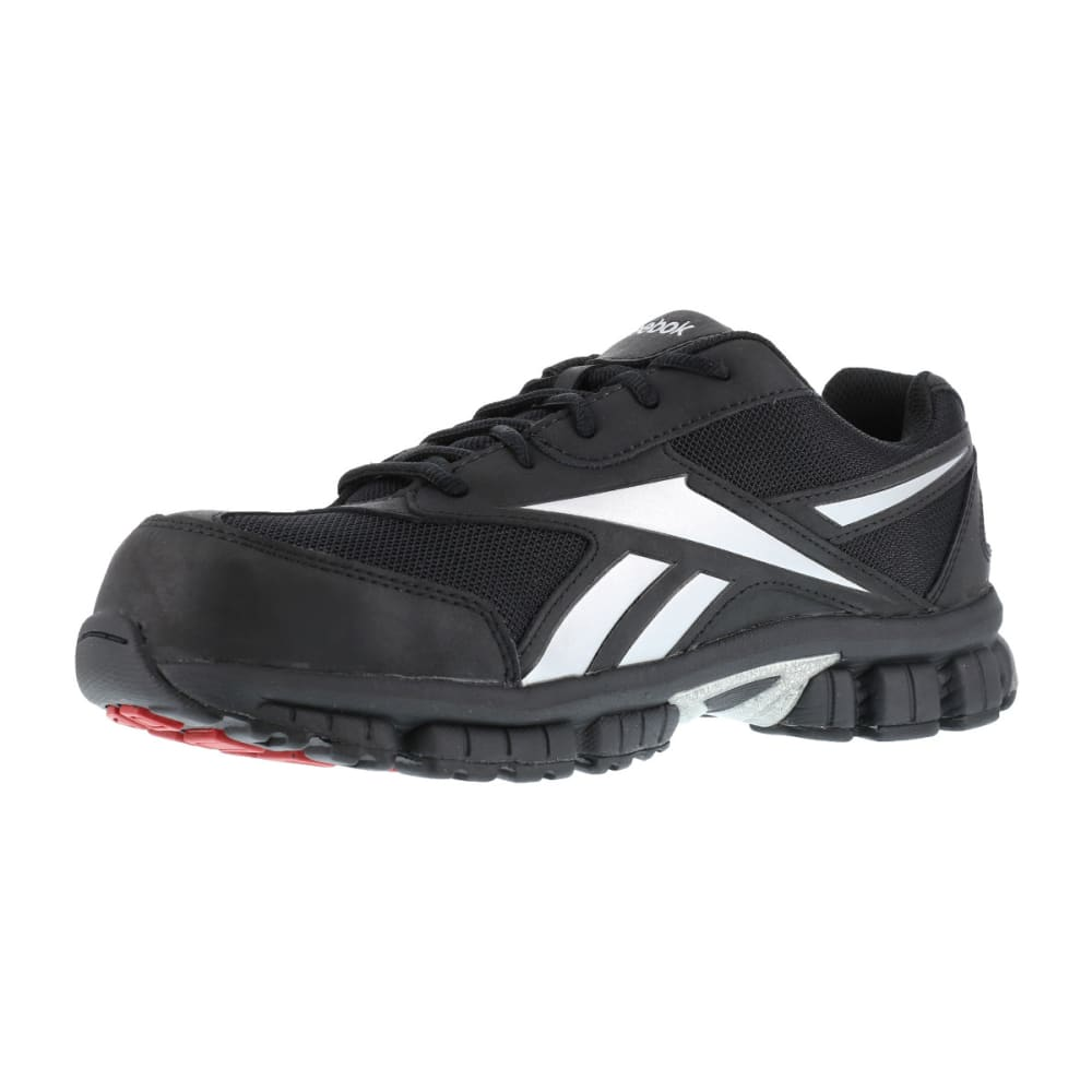 REEBOK WORK Men's Ketia Composite Toe Cross Trainer Shoes, Black/ Silver, Wide - BLACK/SILVER