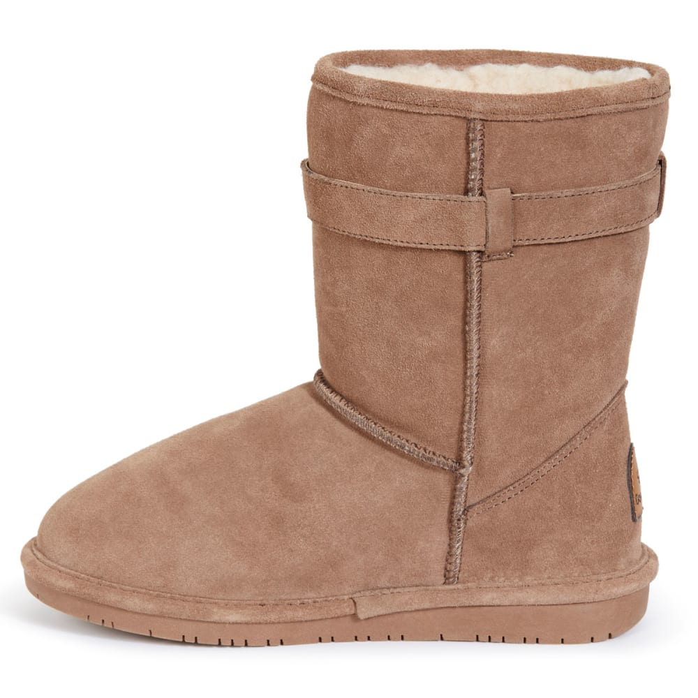 BEARPAW Women's Shearling Val Belted Boots - TAUPE