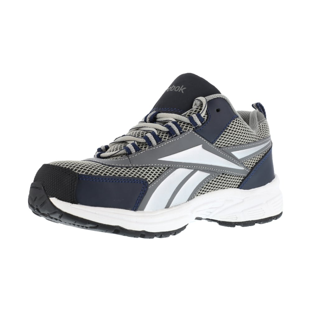 REEBOK WORK Men's Kenoy Steel Toe Cross Trainer Shoes, Gray/ Navy, Medium Width - GRAY & NAVY