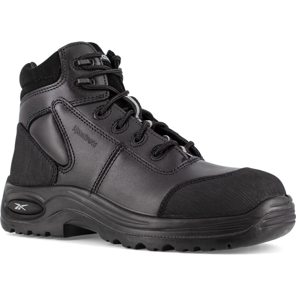 REEBOK WORK Men's Trainex Composite Toe 6inch Work Boots, Black, Medium Width 6