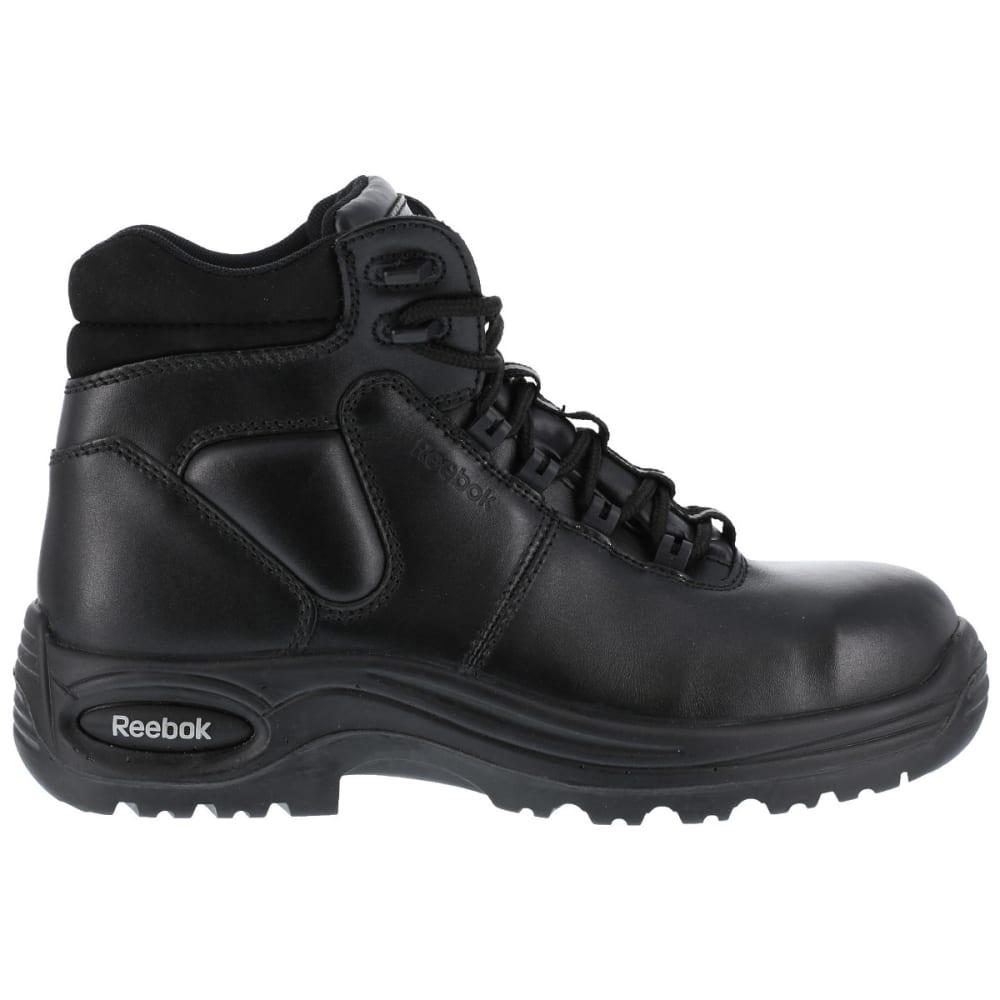 REEBOK WORK Men's Trainex Comp Toe 6 in. Work Boots, Black, Wide - BLACK