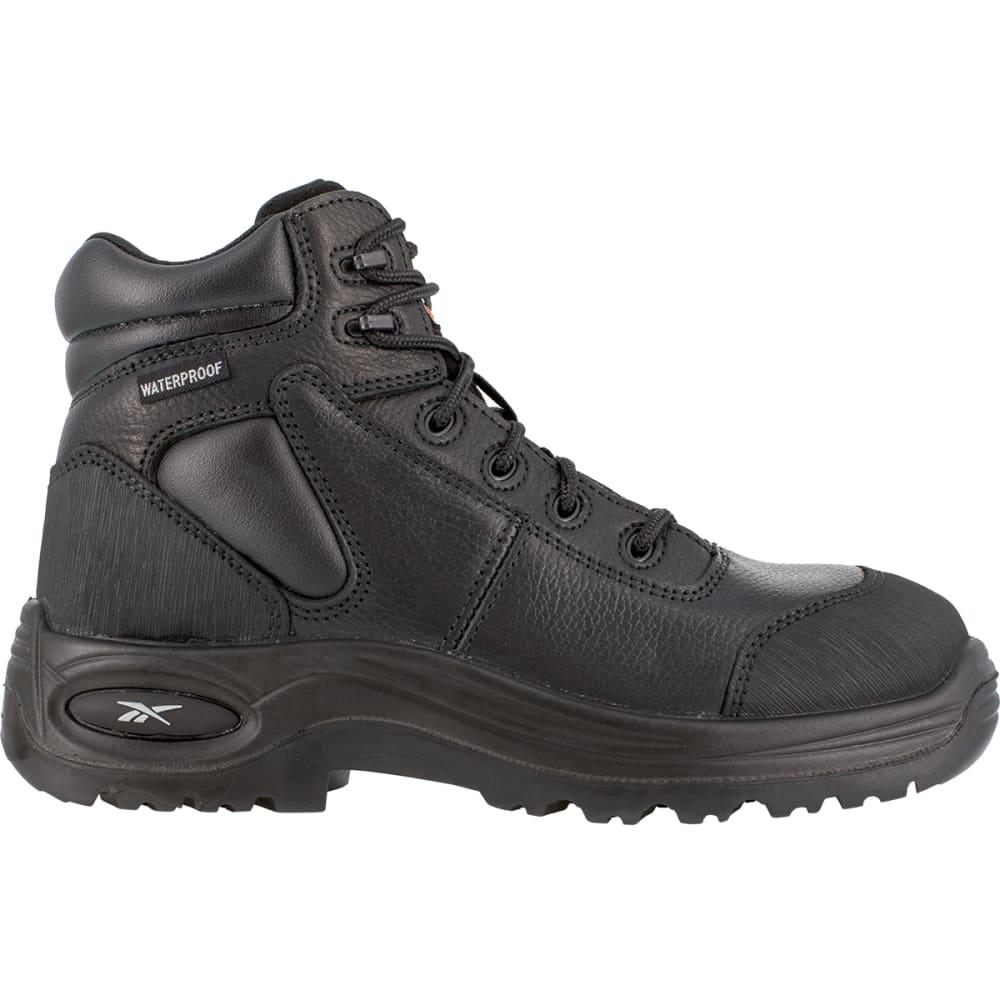 REEBOK WORK Men's Trainex Composite Toe 6inch Work Boots, Black, Extra Wide - BLACK