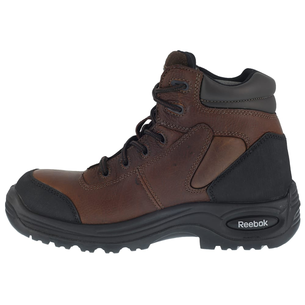 REEBOK WORK Men's Trainex Composite Toe 6inch Work Boots, Brown, Medium Width - DARK BROWN