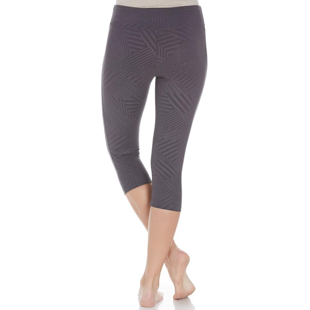 MARIKA Women's Embossed Sanded Dry-Wick Capri Pants - NINE IRON 0LO