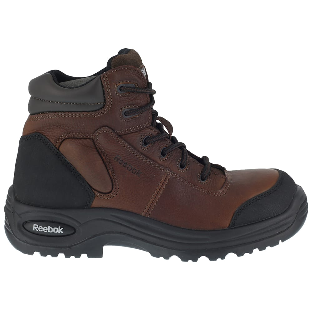 REEBOK WORK Men's Trainex Composite Toe 6inch Work Boots, Brown, Wide - DARK BROWN