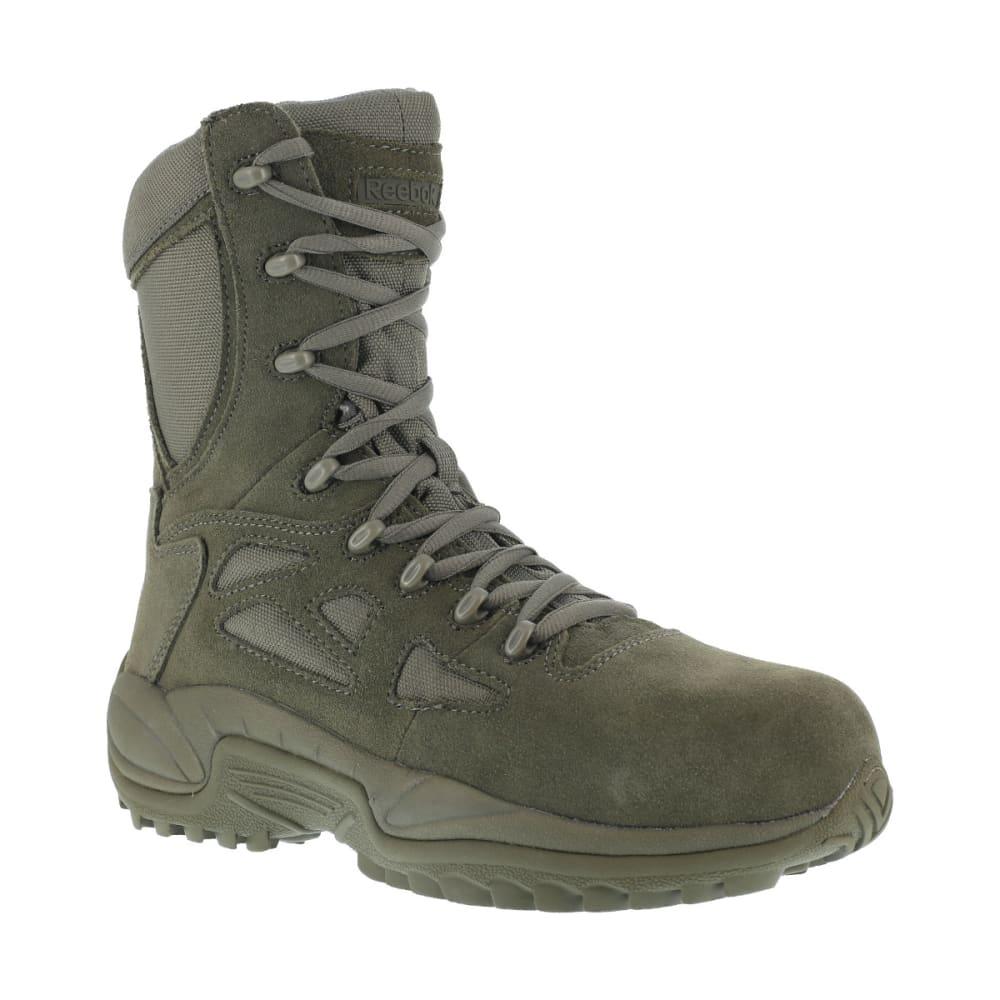 REEBOK WORK Men's Rapid Response 8inch RB Composite Toe Work Boots, Sage Green, Wide - SAGE GREEN