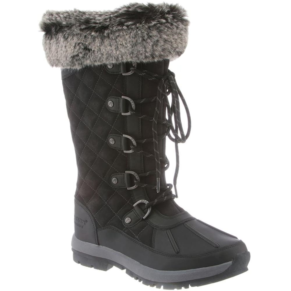 Bearpaw Women's Gwyneth Tall Fur Waterproof Boots - Black, 5