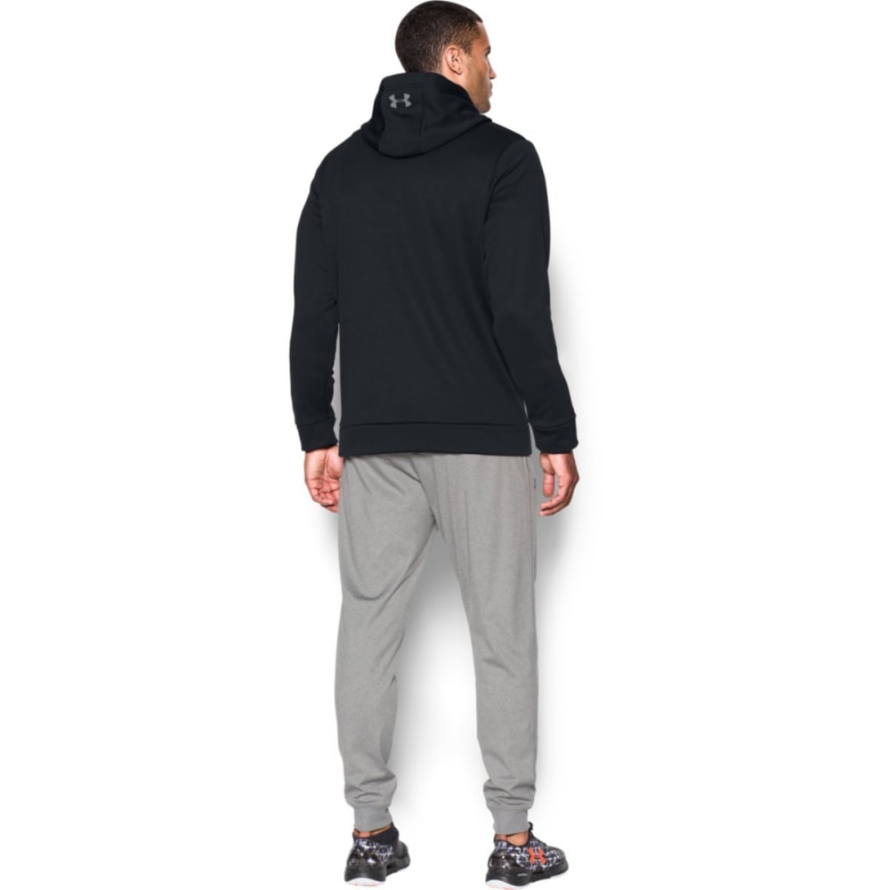 UNDER ARMOUR Men's Storm Armour Fleece Logo Hoodie - BLACK/STEEL-001