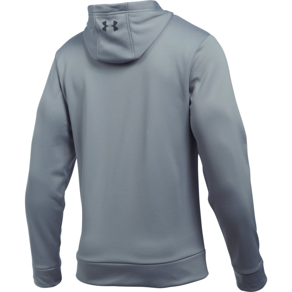 UNDER ARMOUR Men's Storm Armour Fleece Logo Hoodie - STEEL/STEALTH-035
