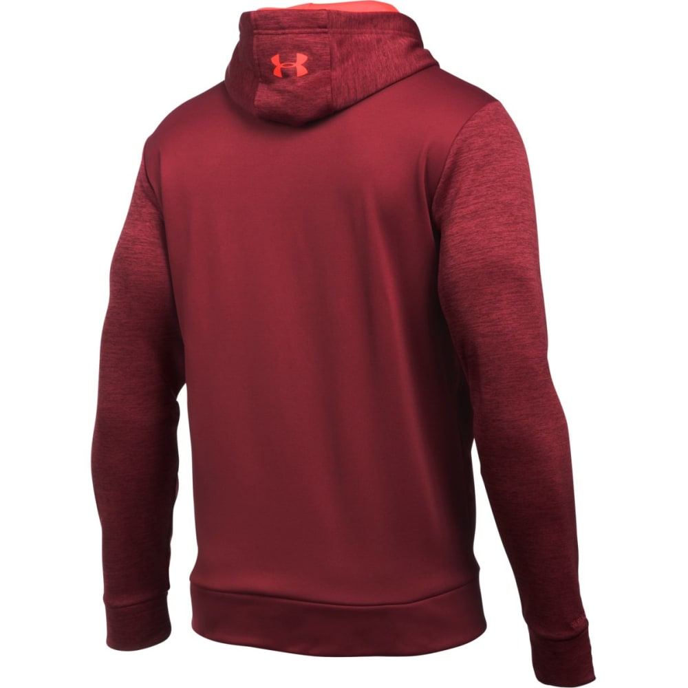 UNDER ARMOUR Men's Storm Armour Fleece Logo Twist Hoodie - CARDINAL-625