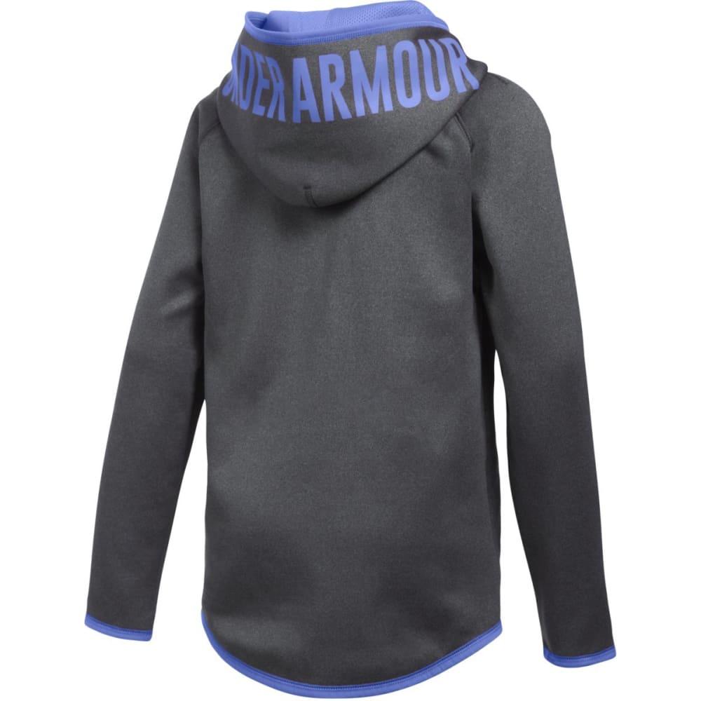 UNDER ARMOUR Girls' Armour Fleece Jumbo Logo Hoodie - GRY HTHR/VIOLET 090